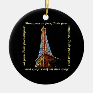 Paris Eiffel Tower Christmas Ornament