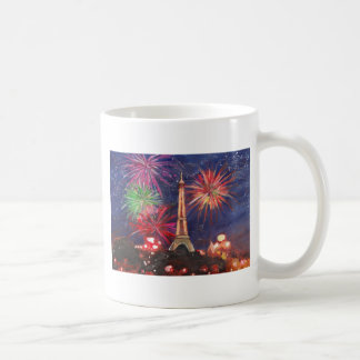Paris Eiffel Tower City of Love with Silvester New Basic White Mug