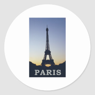 Paris Eiffel Tower Classic Round Sticker