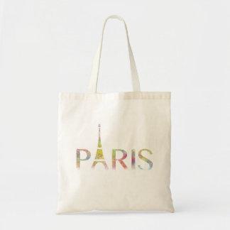 Paris Eiffel Tower Colour Splash Tote Bag