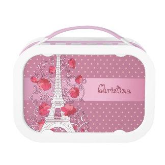 Paris Eiffel tower elegant stylish silhouette Lunchboxes