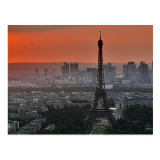 Paris Eiffel Tower European Art Photography Postcard