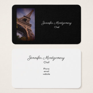 Paris Eiffel Tower Famous Landmark Photo Business Card