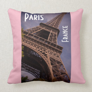 Paris Eiffel Tower Famous Landmark Photo Cushion