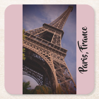 Paris Eiffel Tower Famous Landmark Photo Square Paper Coaster
