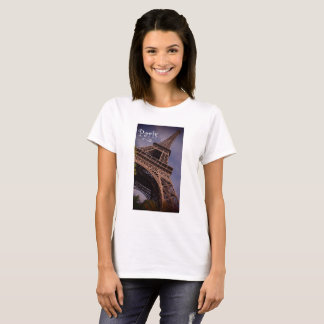 Paris Eiffel Tower Famous Landmark Photo T-Shirt