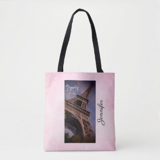 Paris Eiffel Tower Famous Landmark Photo Tote Bag