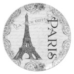 Paris Eiffel Tower French Plate