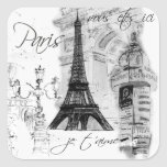 Paris Eiffel Tower French Scene Collage