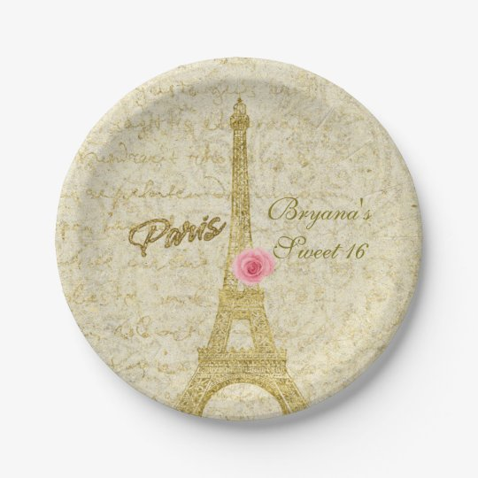 Paris Eiffel Tower Gold & Pink Glamour Party