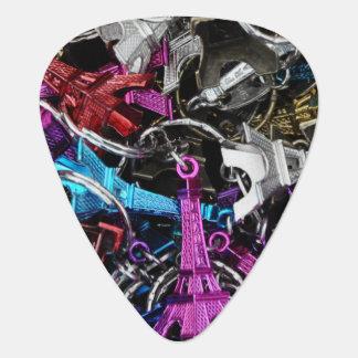 Paris Eiffel Tower Keyrings Guitar Pick