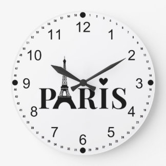 Paris Eiffel Tower Large Clock