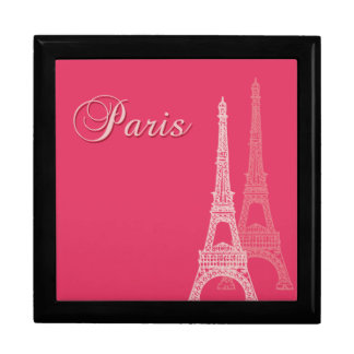 Paris Eiffel Tower Large Square Gift Box