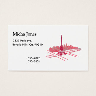 Paris Eiffel Tower Modern Sketch Business Card