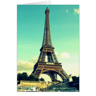 Paris / Eiffel Tower Notecard (blank)