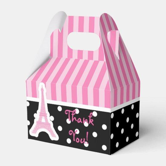 Paris Eiffel Tower Pink Birthday Party Favour Favour