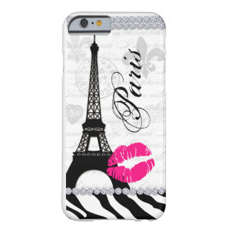 Paris Eiffel Tower Pink Lips Cell Phone Cover Barely There iPhone 6 Case