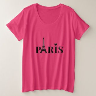 Paris Eiffel Tower Plus Size T-Shirt