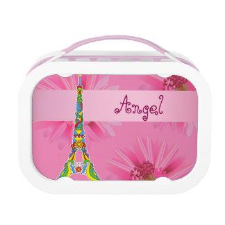 Paris Eiffel tower pop-art stylish silhouette Lunchboxes