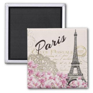 Paris - Eiffel Tower Square Magnet