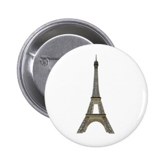 Paris: Eiffel Tower: Vector Drawing: 6 Cm Round Badge