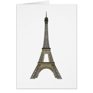 Paris: Eiffel Tower: Vector Drawing: Card