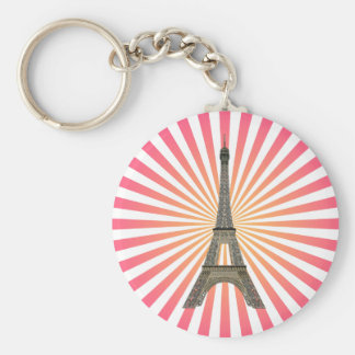 Paris: Eiffel Tower: Vector Drawing: Keychain
