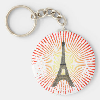 Paris: Eiffel Tower: Vector Drawing: Keychain