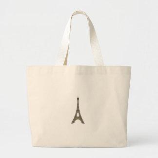 Paris: Eiffel Tower: Vector Drawing: Large Tote Bag