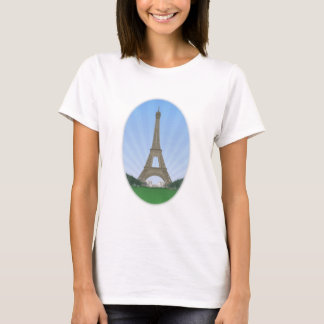 Paris: Eiffel Tower: Vector Drawing: T-Shirt