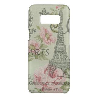 paris eiffel tower vintage mint pink floral Case-Mate samsung galaxy s8 case