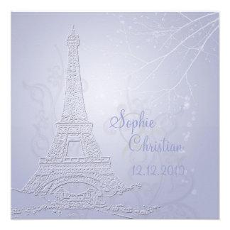 Paris eiffel tower wedding invitations