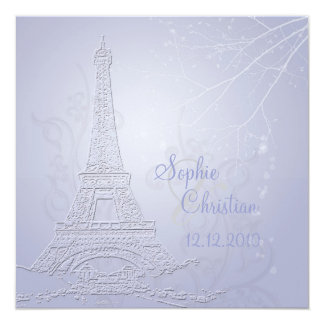 Paris, eiffel tower wedding  invitations