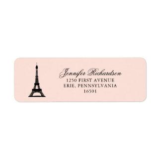 Paris Elegance Blush Pink with Eiffel Tower