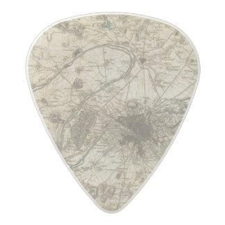 Paris environs acetal guitar pick