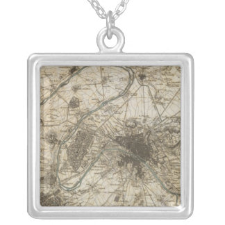 Paris environs silver plated necklace