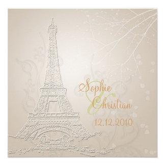 Paris fall + winter wedding invitations