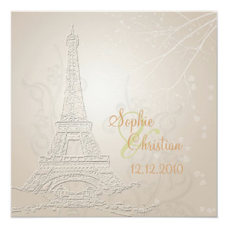 Paris, fall + winter wedding  invitations