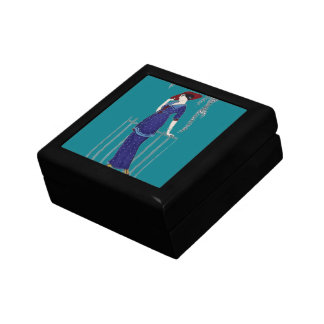 Paris fashion 1920s elegant lady small square gift box