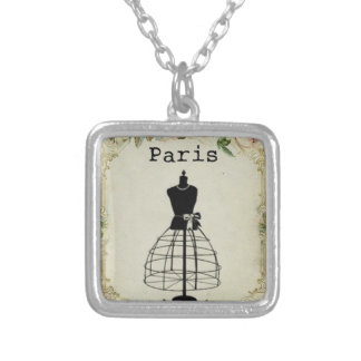Paris Fashion Dress Form Pendant