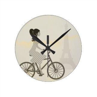 Paris Fashionista Clock