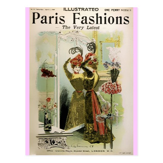Paris Fashions 2- Postcard / Invitation / RSVP #18