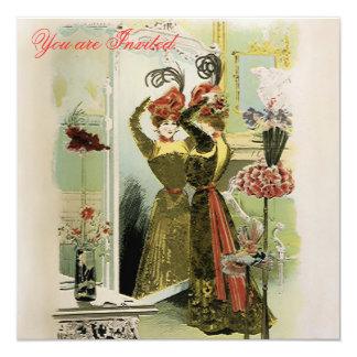 Paris Fashions ~  Invitations Fashion Plate