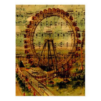 Paris Ferris Wheel Postcard