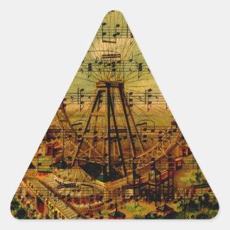 Paris Ferris Wheel Triangle Sticker