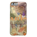 Paris Flapper Vintage Art Deco Lady Peacock Barely There iPhone 6 Case