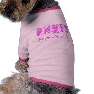 Paris for president! ringer dog shirt