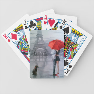 Paris for two bicycle playing cards