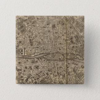 Paris France 15 Cm Square Badge