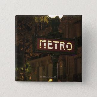Paris, France. 15 Cm Square Badge